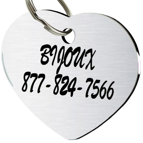 0c82dcd52f913 CNATTAGS - STAINLESS STEEL PET ID TAGS DOG TAGS PERSONALIZED FRONT ...