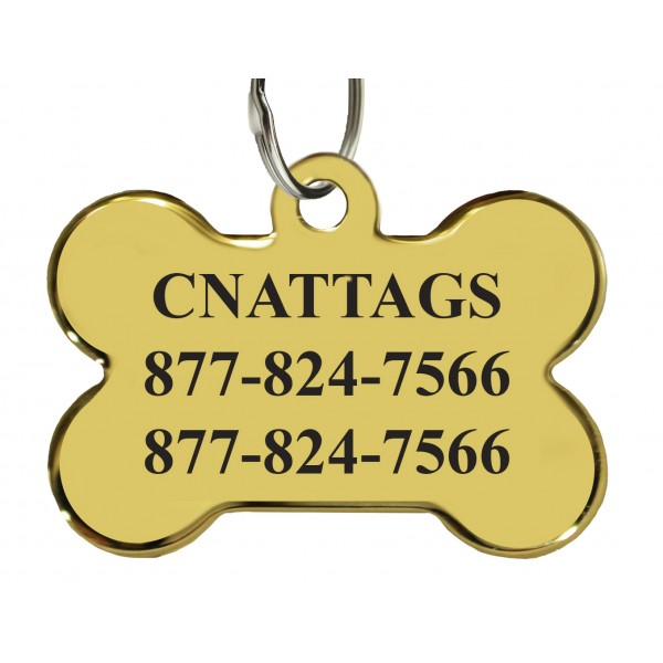 Fun Personalized Dog ID Pet Tag for Dogs Gold Plated Furakami Pet ID Tag