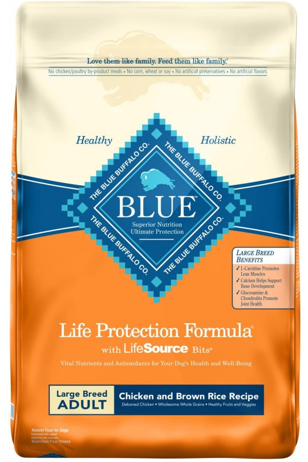 Blue Buffalo Life Protection Formula Large Breed Dog Food – Natural Dry Dog Food for Adult Dogs – Chicken and Brown Rice –