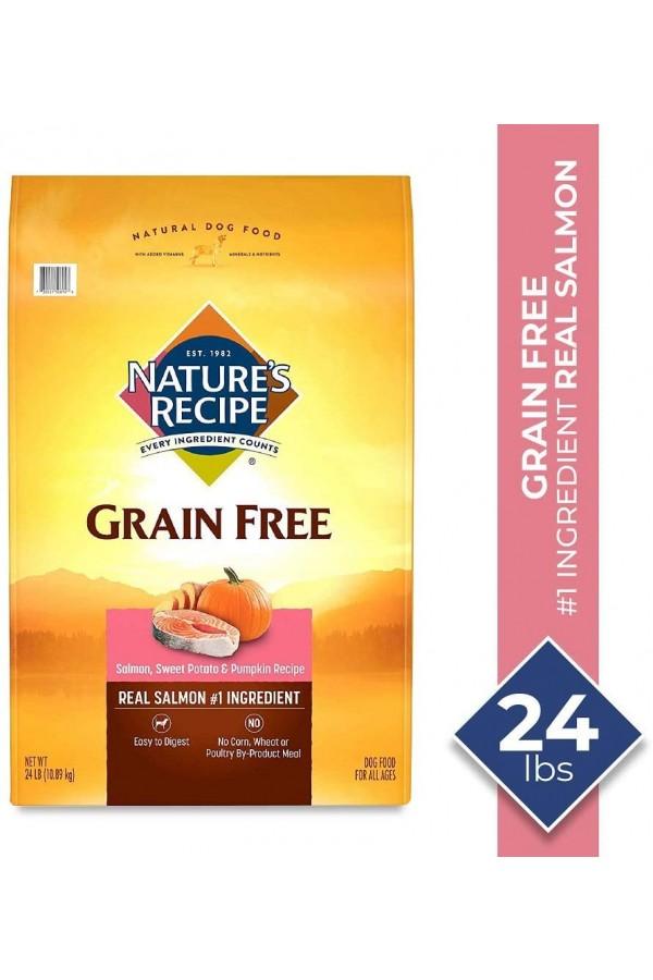 Nature's Recipe Grain-Free Salmon, Sweet Potato & Pumpkin Recipe Dry Dog Food (24 Pounds)