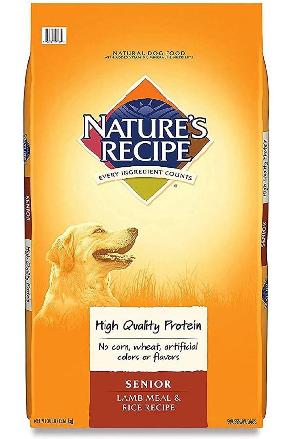Nature's Recipe Senior Lamb Meal & Rice Recipe Dry Dog Food (30 Pounds)