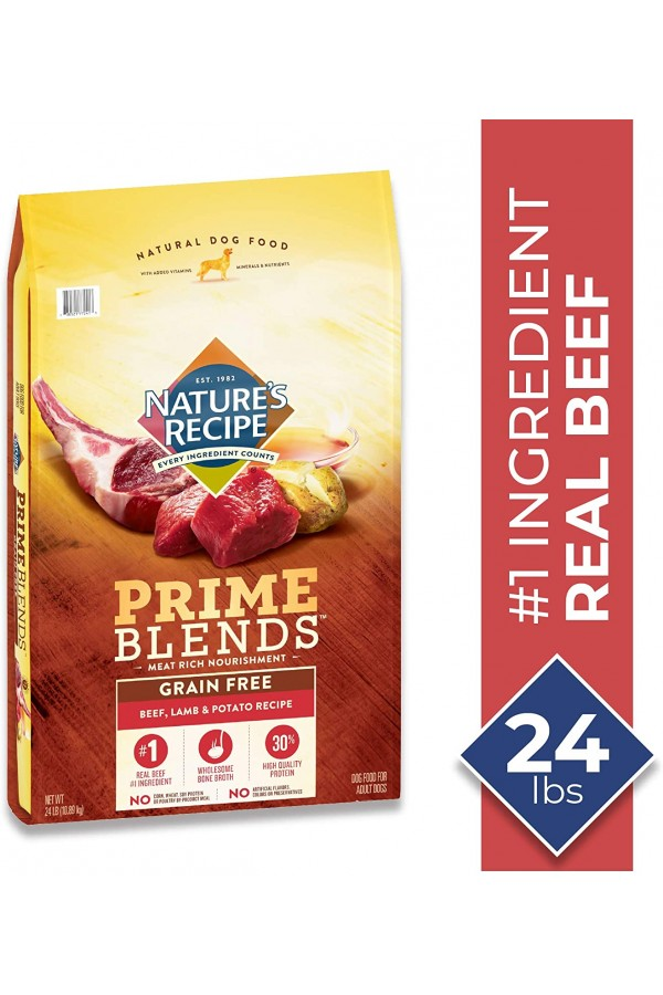Nature's Recipe Prime Blends Chicken, Turkey, and Butternut Squash Recipe Grain-Free Dry Dog Food (24 Pounds)