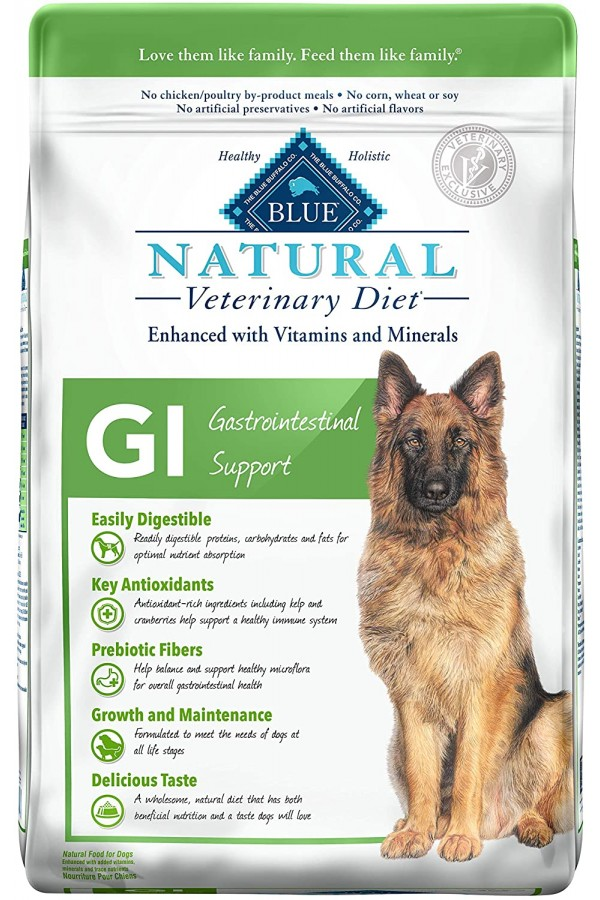 Blue Buffalo Natural Veterinary Diet Gastrointestinal Support for Dogs