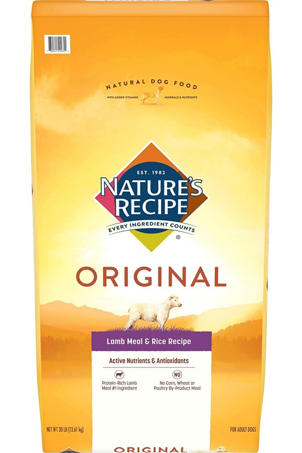 Nature's Recipe Adult Lamb Meal & Rice Recipe Dry Dog Food (30 Pounds)