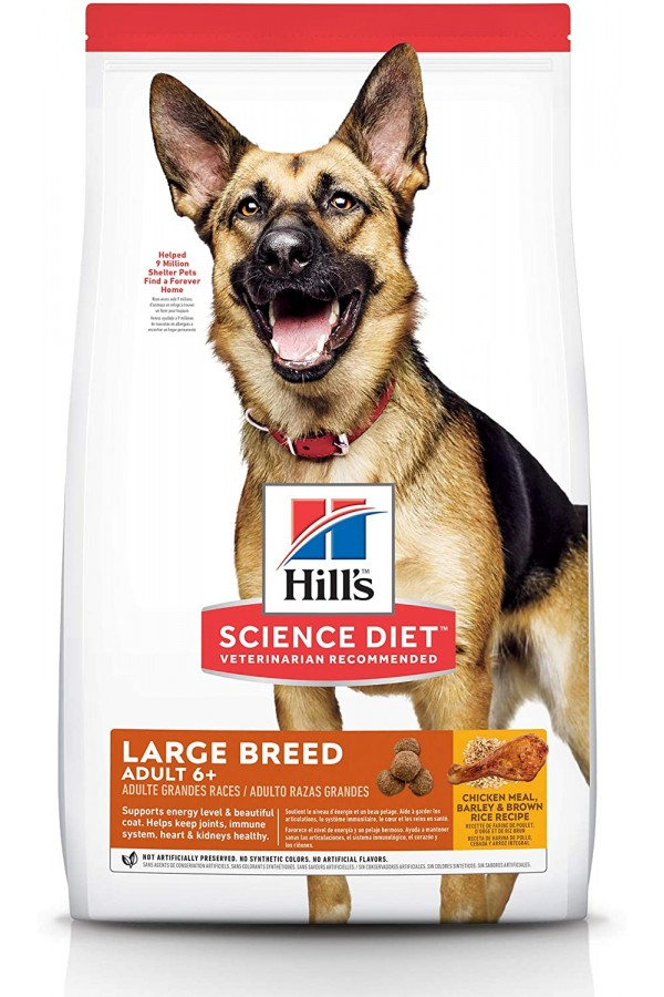 Hill's Science Diet Dry Dog Food, Adult 6+ for Senior Large Breed Dogs, Chicken Recipes