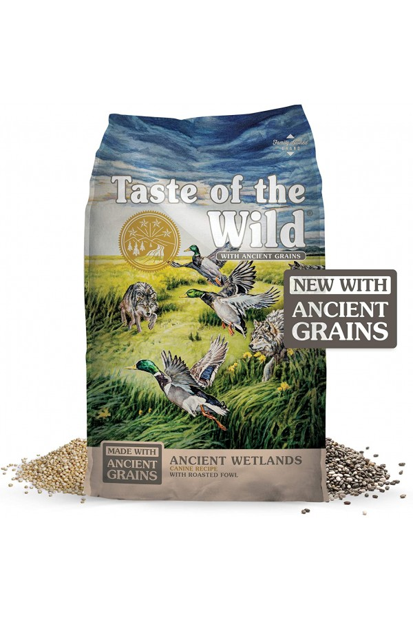 Taste of the Wild High Protein Real Meat Recipe Premium Dry Dog Food with Roasted Fowl