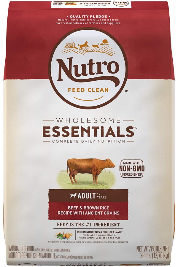 NUTRO Wholesome Essentials Natural Adult Dry Dog Food Beef & Brown Rice