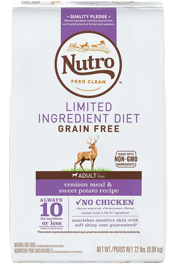 Nutro Limited Ingredient Diet Adult Dry Dog Food (22 Pounds)