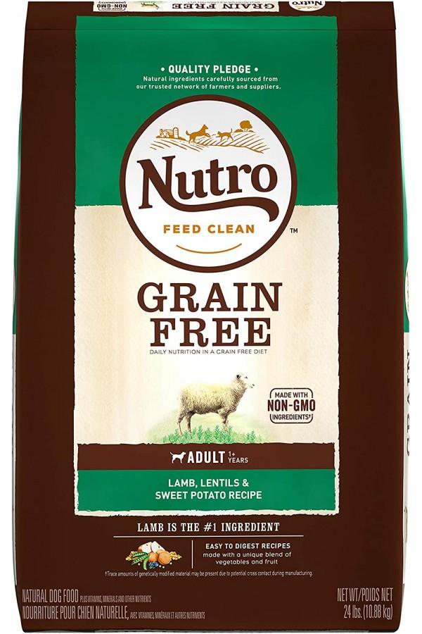 NUTRO Grain Free Adult Dry Dog Food, Lamb
