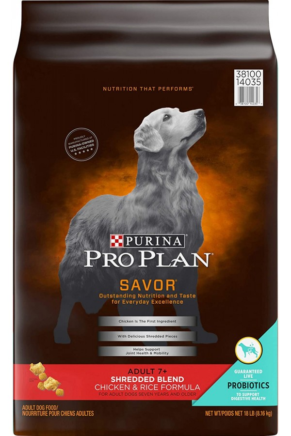 Purina Pro Plan SAVOR Senior 7+ Shredded Blend Adult Dry Dog Food & Wet Dog Food