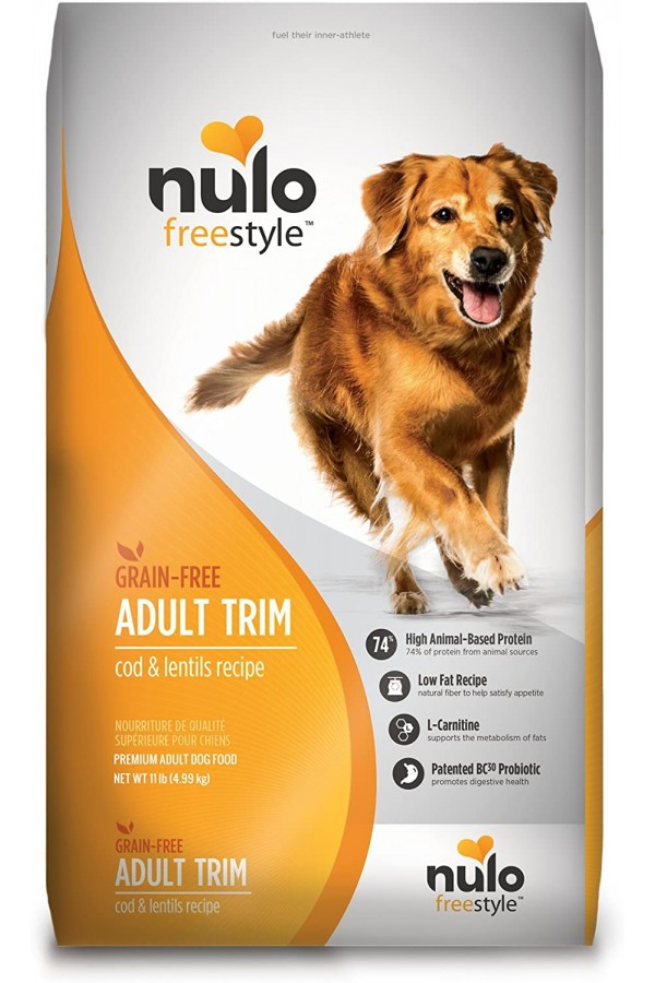 Nulo Grain Free Healthy Weight Dry Dog Food with BC30 Probiotic, Cod and Lentils Recipe