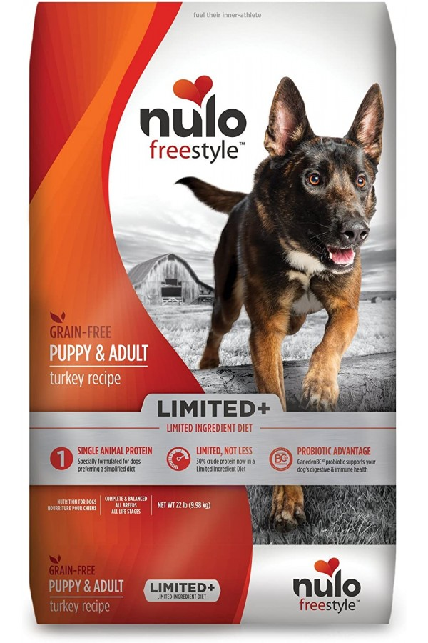 Nulo Puppy & Adult Small Breed Freestyle Limited Plus Grain Free Dry Dog Food: All Natural Limited Ingredient Diet for Digestive & Immune Health - Allergy Sensitive Non GMO