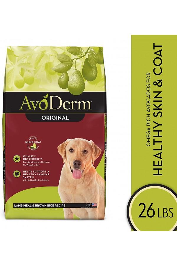 AvoDerm Natural Dry & Wet Dog Food, Healthy Skin And Coat, Lamb & Brown Rice Recipe