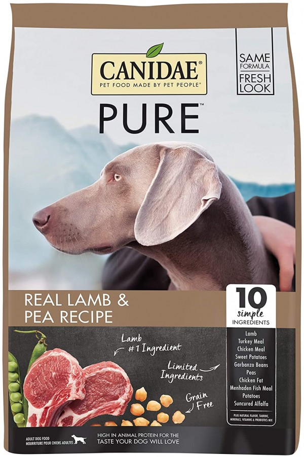 CANIDAE PURE Real Lamb, Limited Ingredient, Grain Free Premium Dry Dog Food