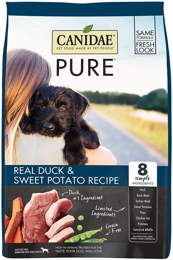 CANIDAE PURE Real Duck, Limited Ingredient, Grain Free Premium Dry Dog Food