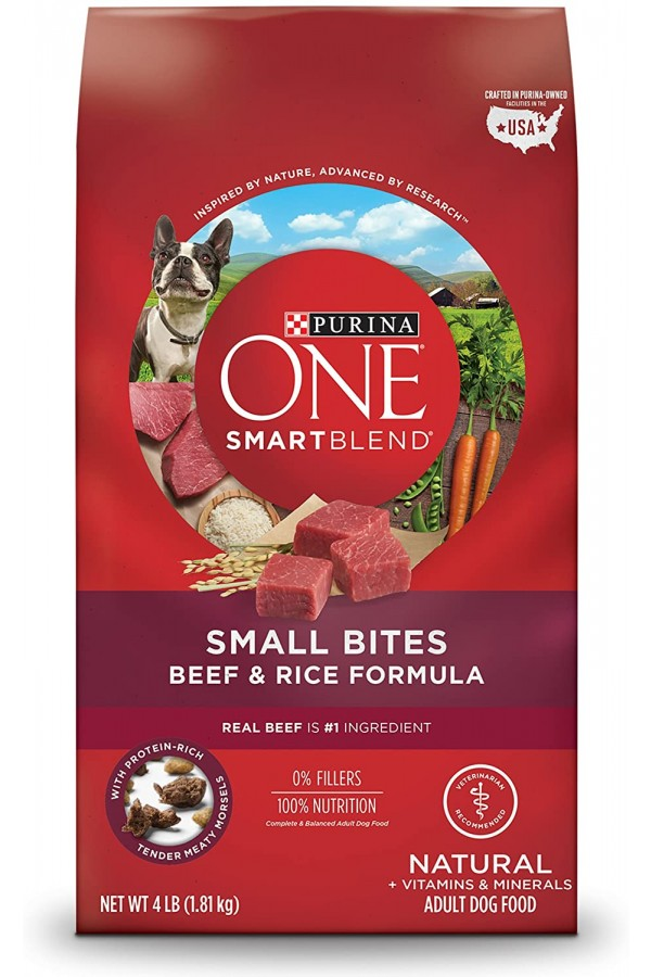Purina ONE SmartBlend Natural Small Bites Beef & Rice Formula Adult Dry Dog Food