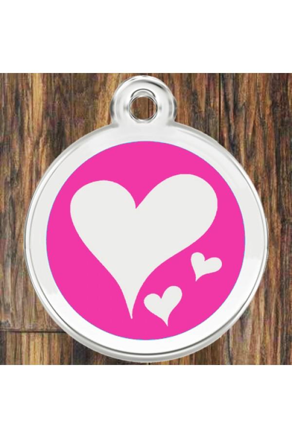 Enamel Round Hearts