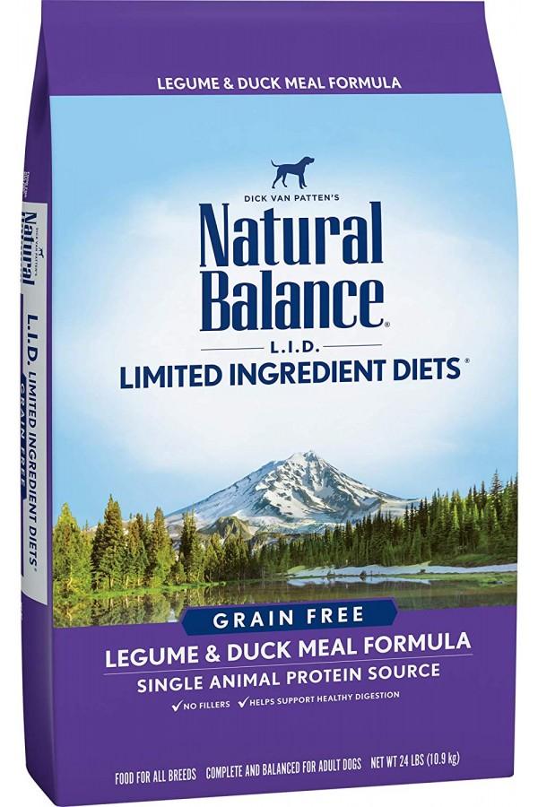 Natural Balance L.I.D. Limited Ingredient Diets Legume & Duck Meal Dog Food (24 pounds)