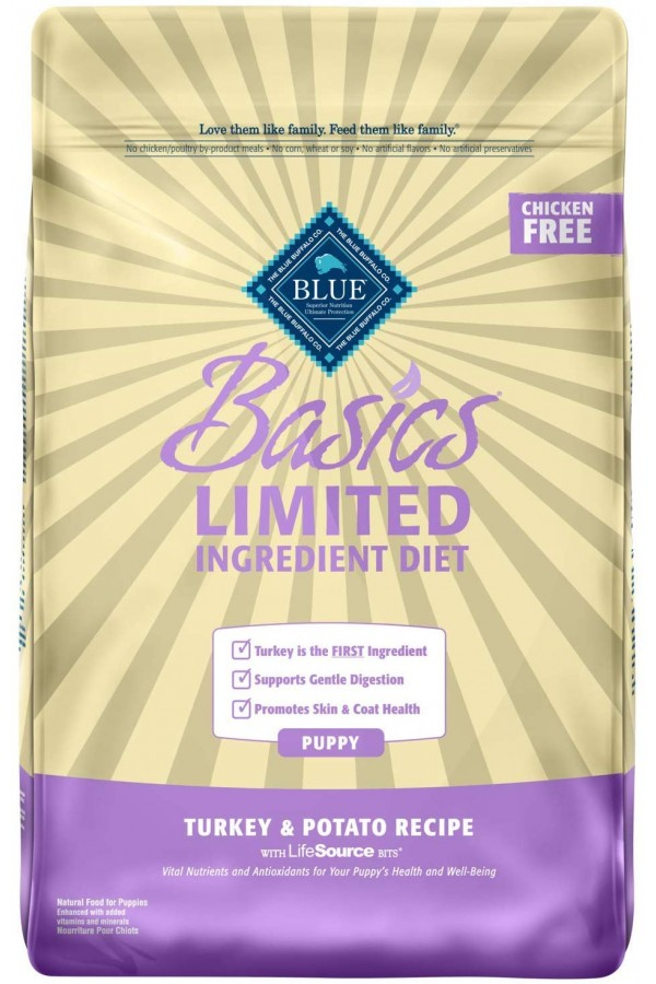 Blue Buffalo Basics Limited Ingredient Formula Turkey & Potato Dry Puppy Food (24 pounds)