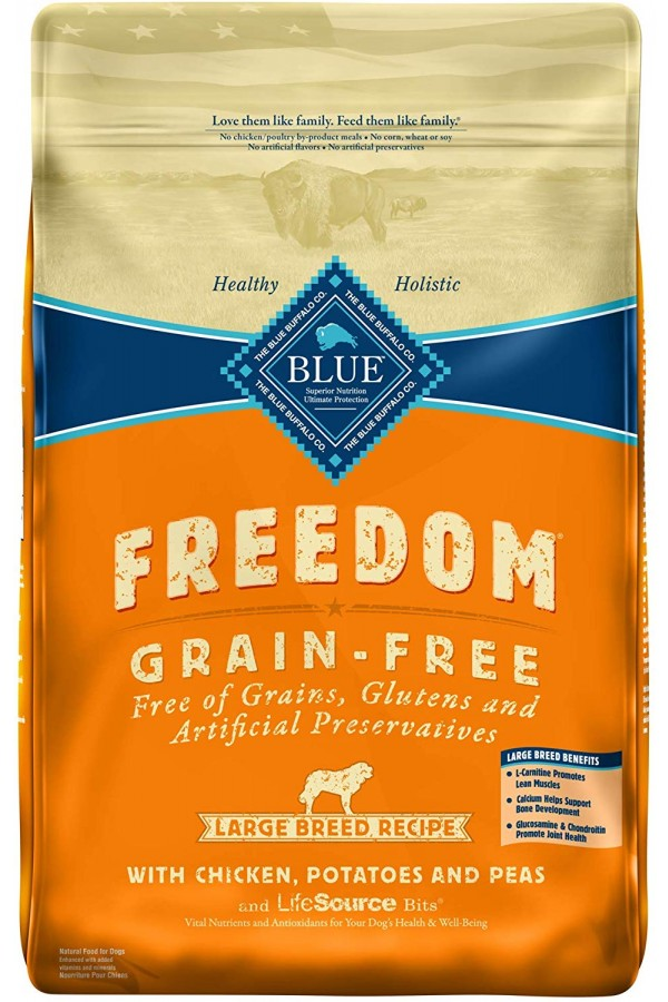 Blue Buffalo Freedom Grain Free Chicken Recipe Large Breed Dog Food (24 pounds)
