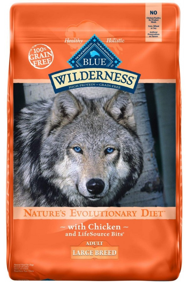 Blue Buffalo Large Breed Wilderness Chicken Adult Dog Food (24 pounds)