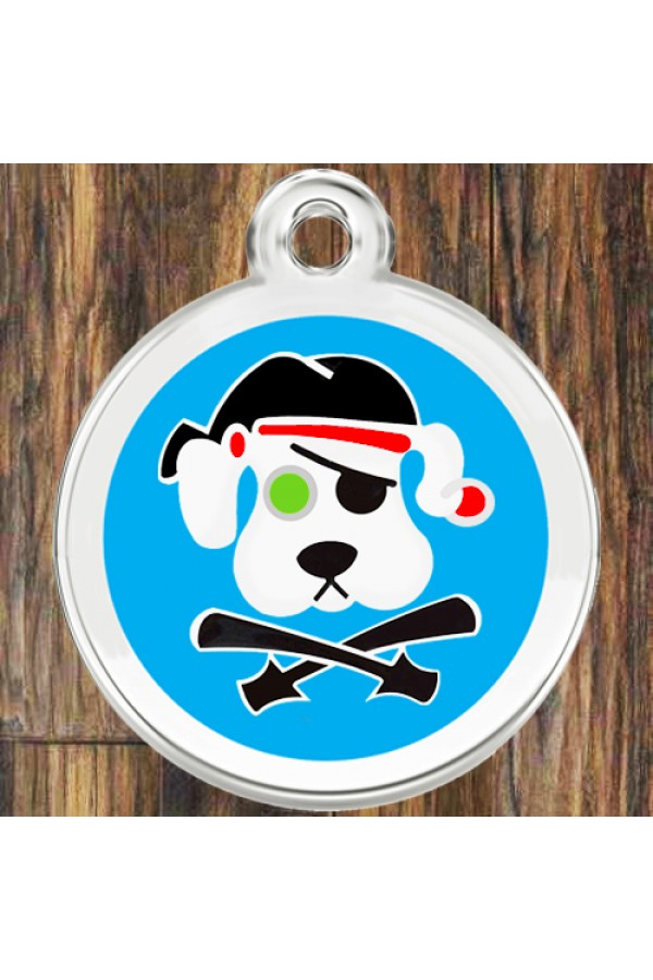 Enamel Round Pirate Dog