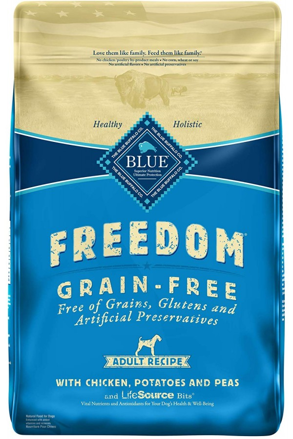 Blue Buffalo Freedom Grain Free Chicken, Potatoes, and Peas Recipe Adult Dog Food (24 pounds)