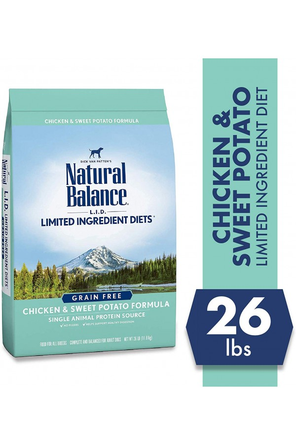Natural Balance Limited Ingredient Diets Sweet Potato & Chicken Dog Food (26 pounds)