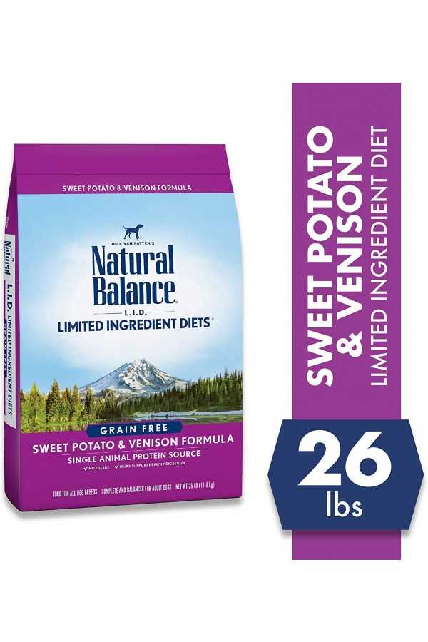 Natural Balance L.I.D. Limited Ingredients Diets Sweet Potato & Venison Dog Food (26 pounds)