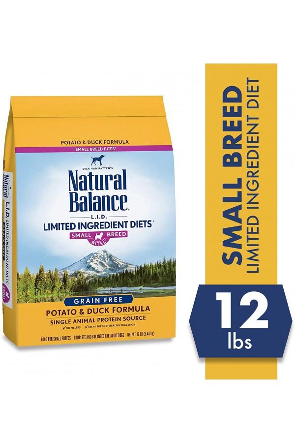 Natural Balance Small Bites Potato & Duck Formula Dog Food (12 pounds)