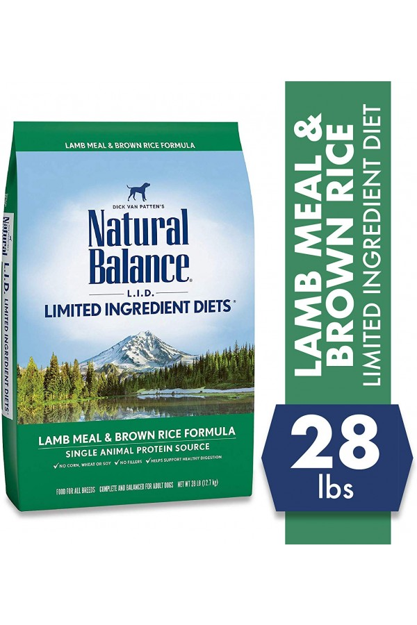 Natural Balance L.I.D. Limited Ingredient Diets Lamb Meal & Brown Rice Dog Food (28 pounds)