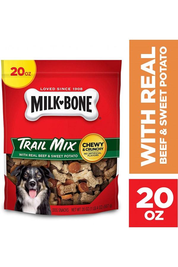Milk-Bone Trail Mix Chewy and Crunchy Dog Treats (Beef & Sweet Potato)