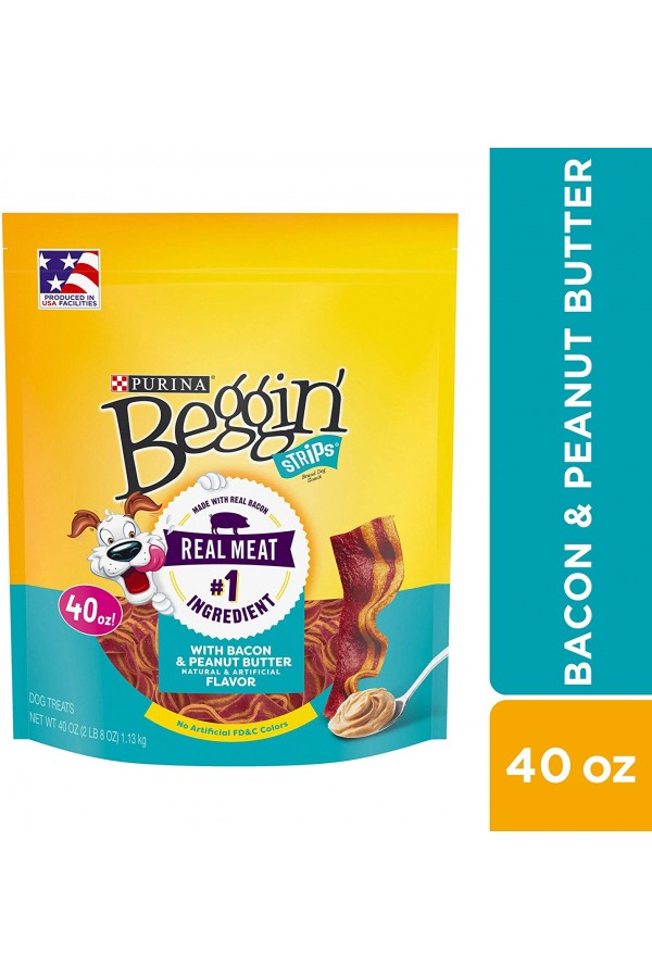 Purina Beggin' Strips Dog Training Treats (Bacon & Peanut Butter Flavor)