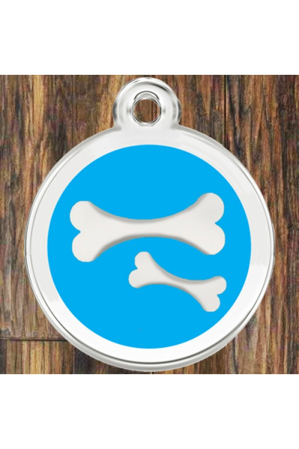 Enamel Pet Tags Round Bones