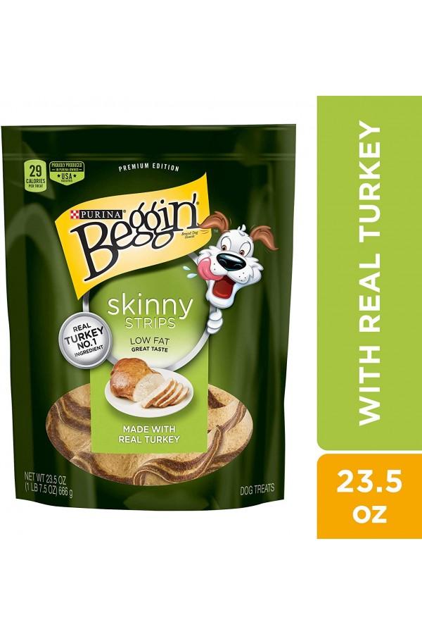 Purina Beggin' Skinny Strips Low Fat Dog Treats (Turkey Flavor)