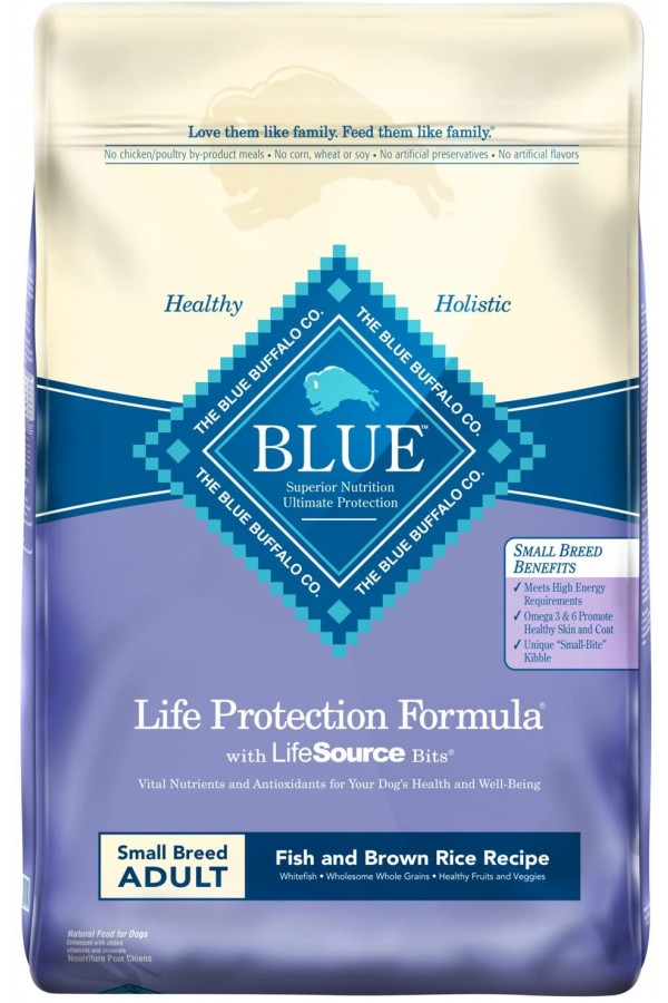 Blue Buffalo Life Protection Formula Small Breed Dog Food – Natural Dry Dog Food for Adult Dogs – Fish and Brown Rice –