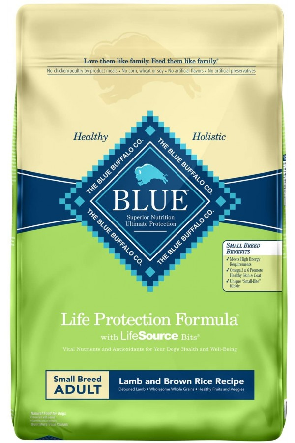 Blue Buffalo Life Protection Formula Natural Lamb and Brown Rice for Small Breeds Dry Dog Food (15 Pounds)