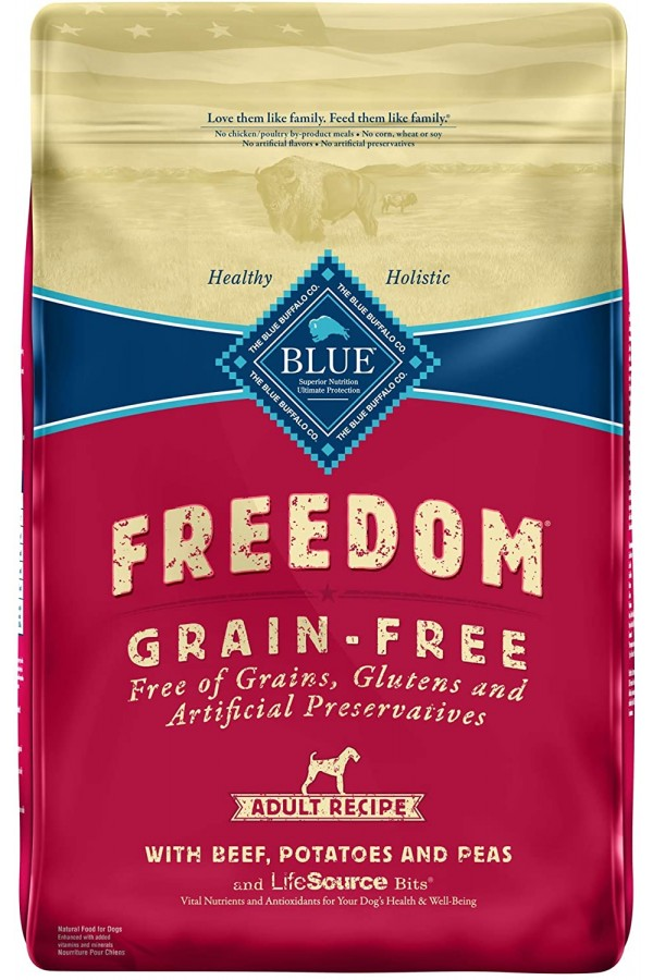 Blue Buffalo Freedom Grain Free Recipe for Dog, Beef Recipe