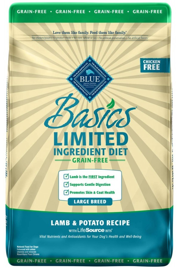 Blue Buffalo Basics Limited Ingredient Diet, Grain Free Natural Adult Dry Dog Food, Salmon & Potato