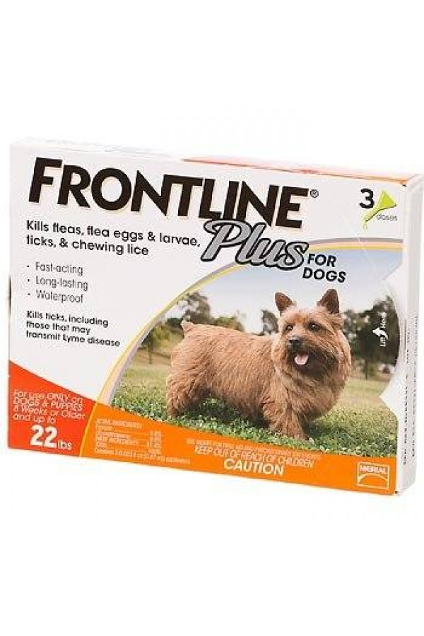 Merial Frontline Plus Flea and Tick Control for Dogs and Puppies