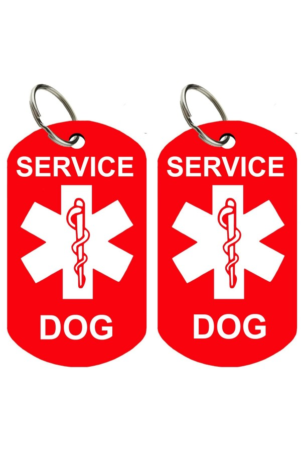 9b2181ee8065 ... CNATTAGS - Service Dog ID Tag Kit, 50 Double Sided ADA Info Cards and 2  ...