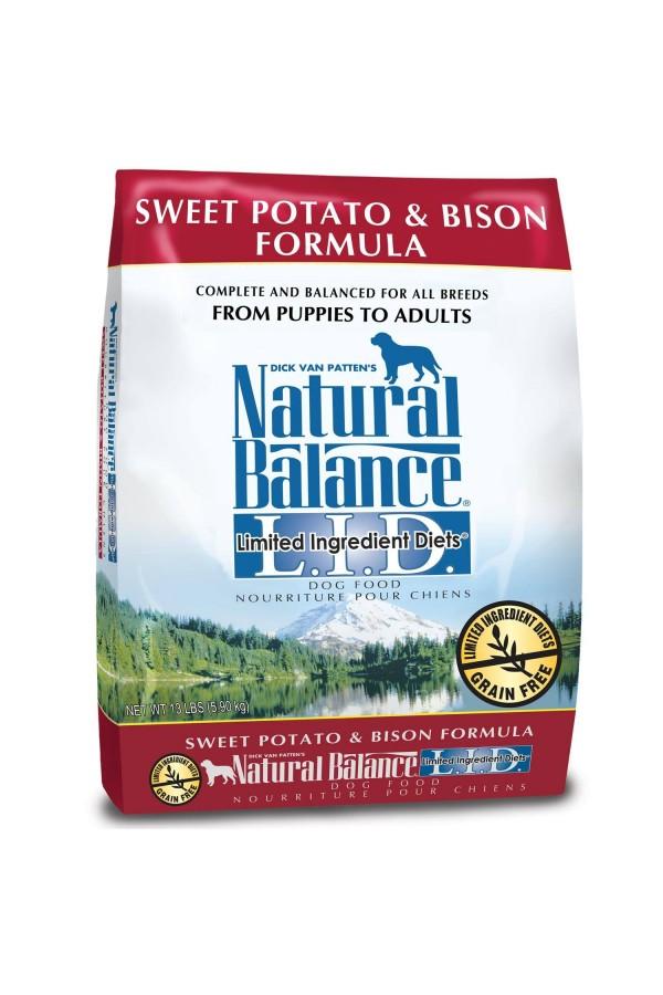 Natural Balance L.I.D. Limited Ingredients Diets Sweet Potato & Bison Dog Food