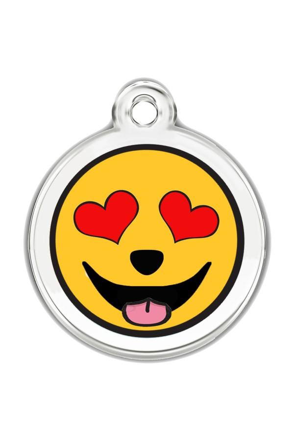 Enamel Pet Tags Round (Eyes of Love)