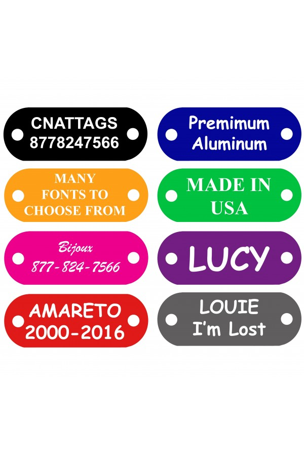 CNATTAGS Pet ID Tags Rivet Shape, 8 Colors, Personalized Premium Aluminum (RIVETS NOT INCLUDED)