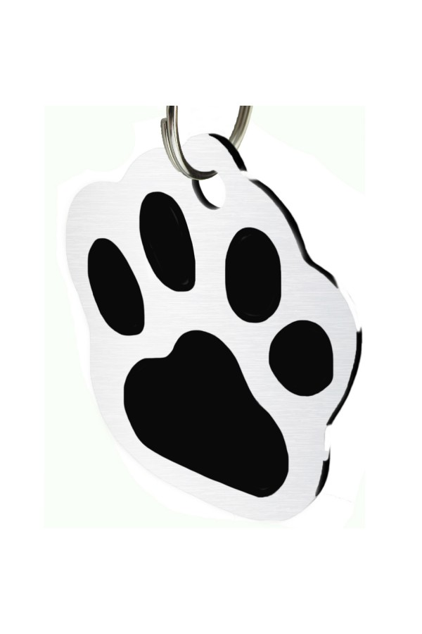CNATTAGS - Stainless Steel Pet ID Tags Dog Tags Personalized Front and Back Engraving (Paw)