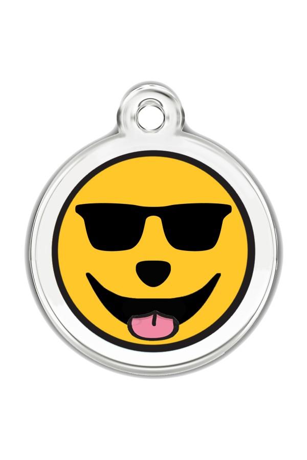 Enamel Pet Tags Round (Sunglasses)