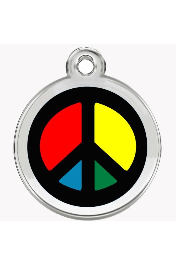 Enamel Pet Tags Round (Peace)