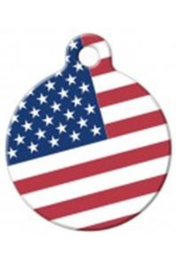 Pet Tag ART (USA Flag)
