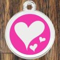 Enamel Pet Tags Round Hearts by CNATTAGS