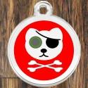 Enamel Pet Tags Round Pirate Cat